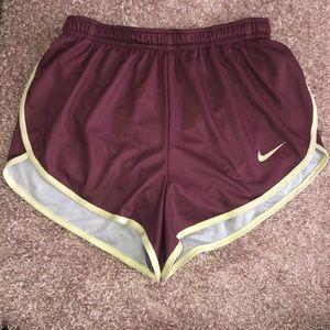 Nike Split Side Running Shorts Purple/Gold